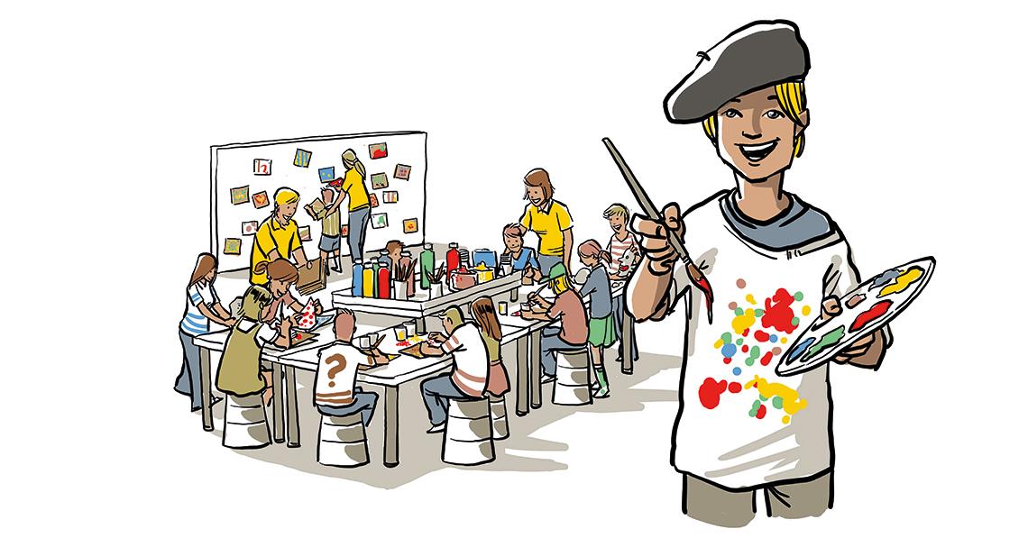 Agentur Tigertatze - Event Modul - KreativWerkstatt - Illustration